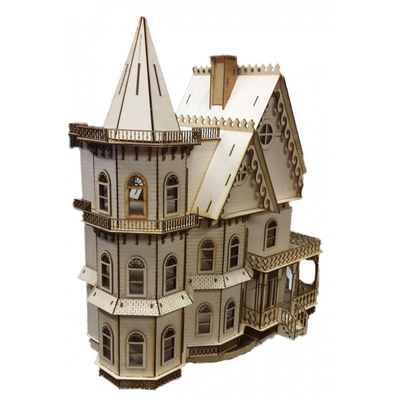 Leon Gothic Dolls House 1:48 Quarter 1/4 Inch Scale Laser Cut Flat Pack Kit