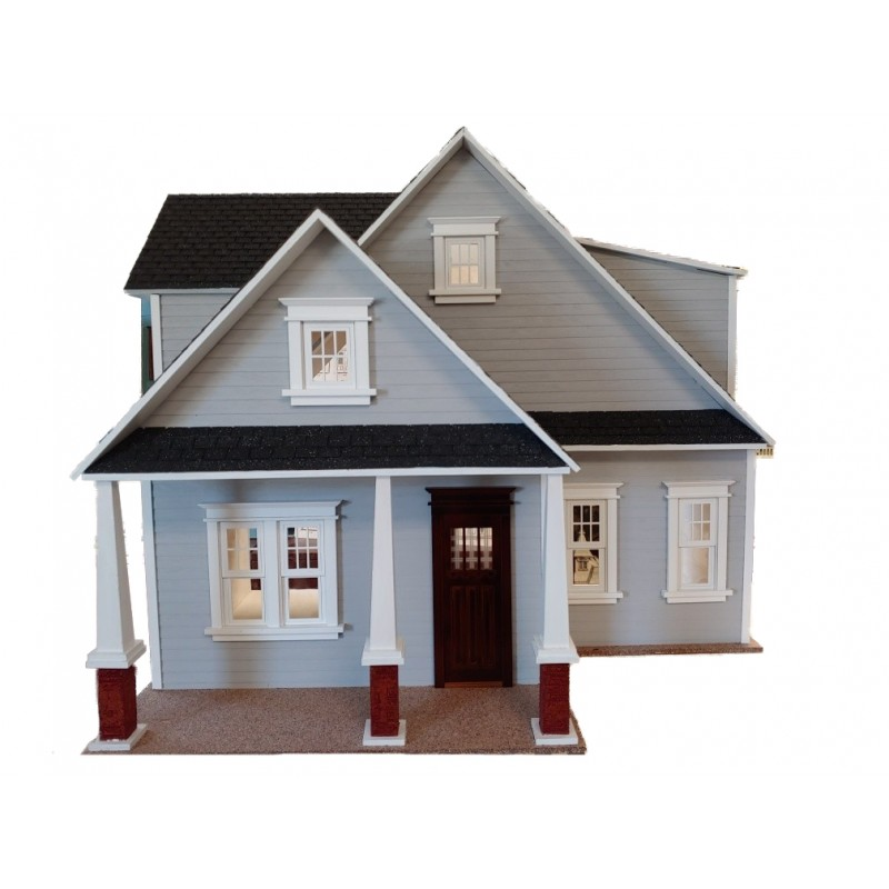 American Dolls House Clarkson Craftsman Cottage 1:12 Laser Cut Flat Pack Kit