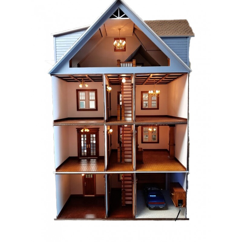 American Dolls House Clarkson Craftsman Mansion 1:12 Laser Cut Flat Pack Kit