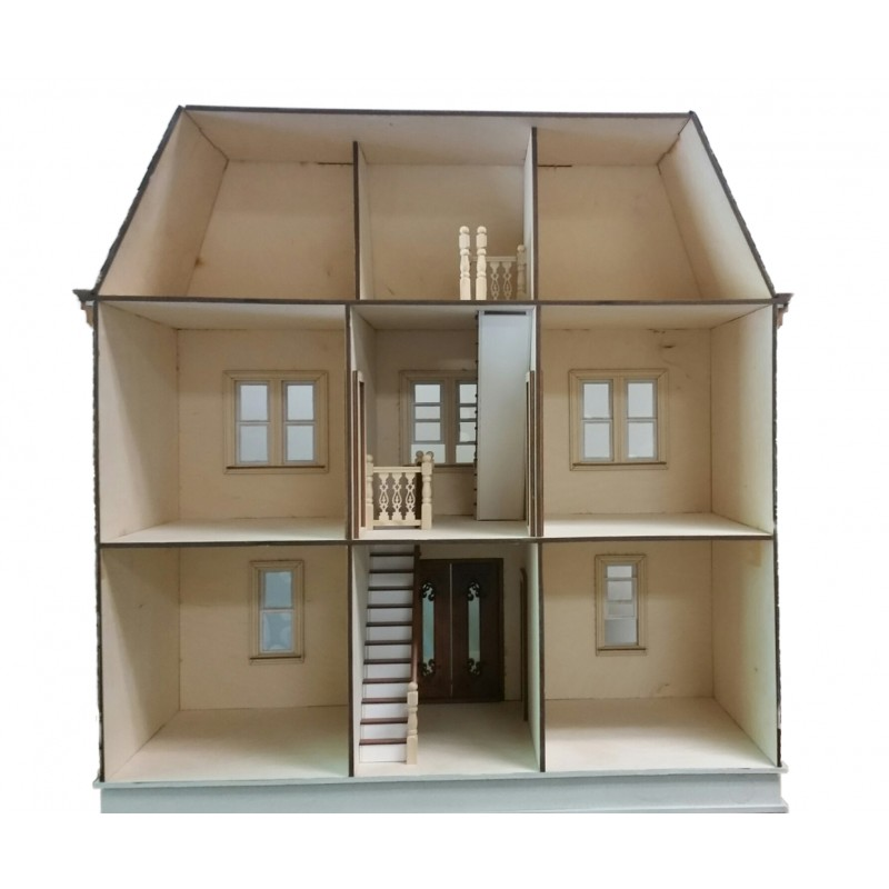 American Dolls House Vivian Mansion 1:12 Laser Cut Wooden Flat Pack Kit