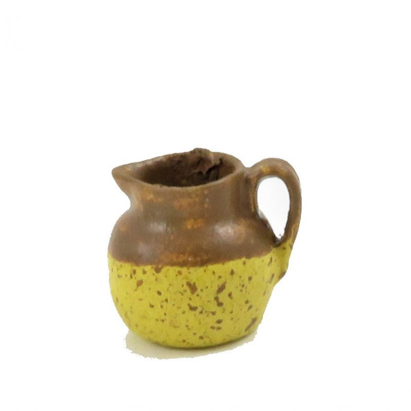 Dolls House Old Fashioned Brown & Yellow Jug 1:12 Kitchen Accessory