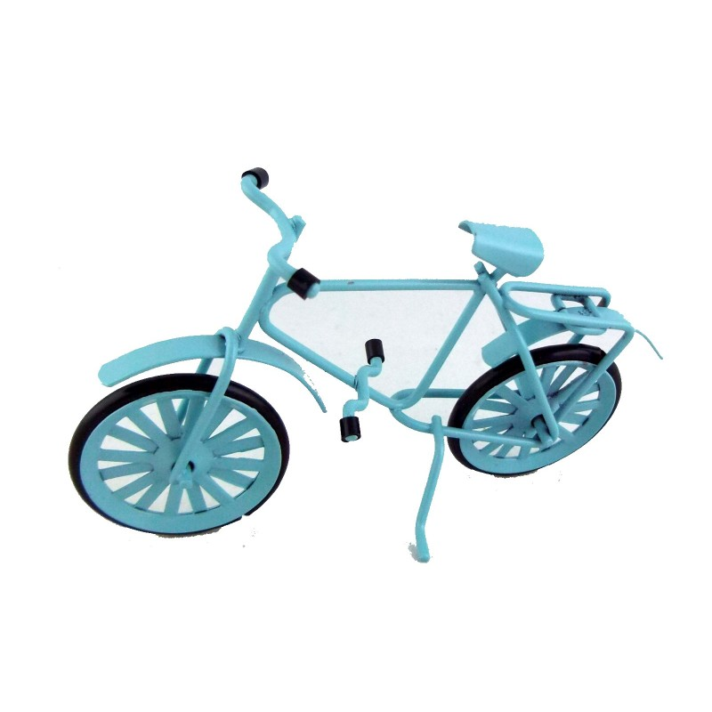 Dolls House Miniature Garden Accessory 1:16 or Childs 1:12 Blue Bike Bicycle