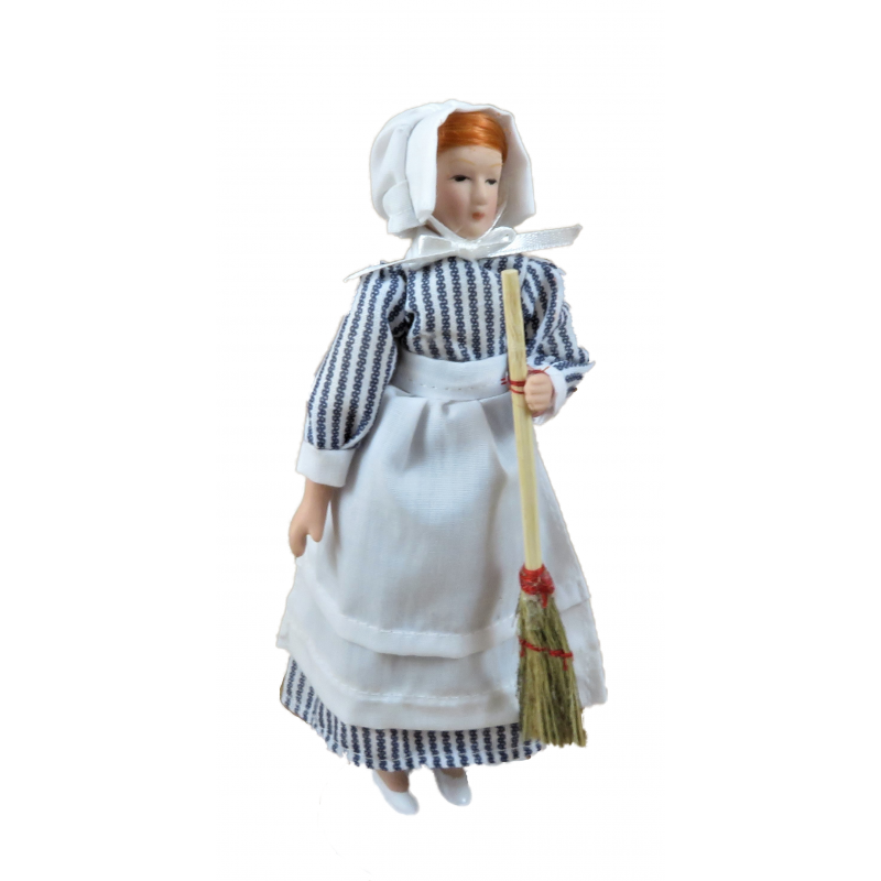 Dolls House Skullery Kitchen Maid Victorian Servant 1:12 Scale Porcelain People