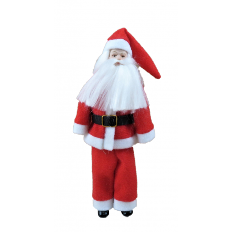 Dolls House Father Christmas Santa Claus 1:12 Scale Porcelain People