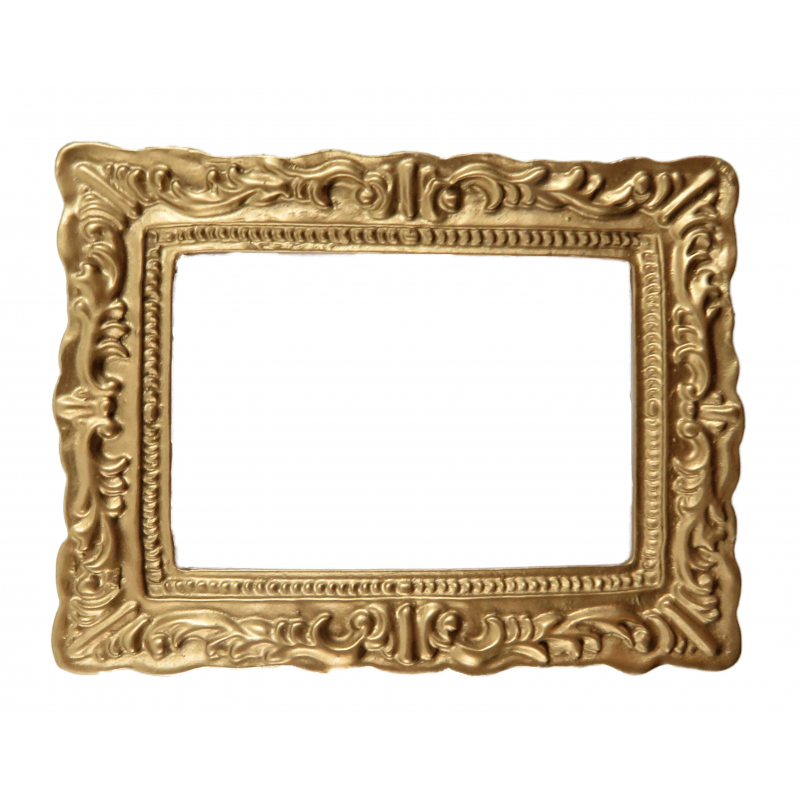 Dolls House Empty Gold Picture Frame Medium 1:12 Miniature Accessory