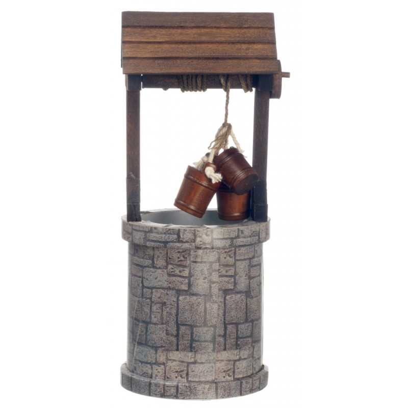 Dolls House Old Traditional Water Wishing Well Miniature Garden Furniture