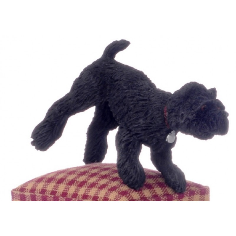 Dolls House Black West Highland Terrier Leg Up Miniature Pet Dog