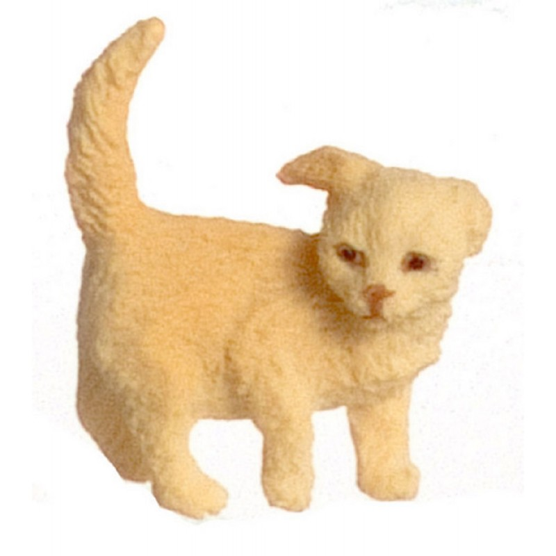 Dolls House Golden Puppy Standing One Ear Down Miniature Pet Dog