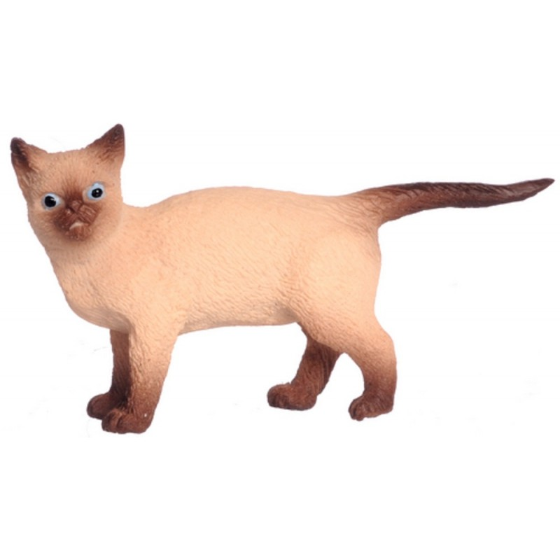 Dolls House Siamese Cat Walking Miniature 1:12 Accessory Pet