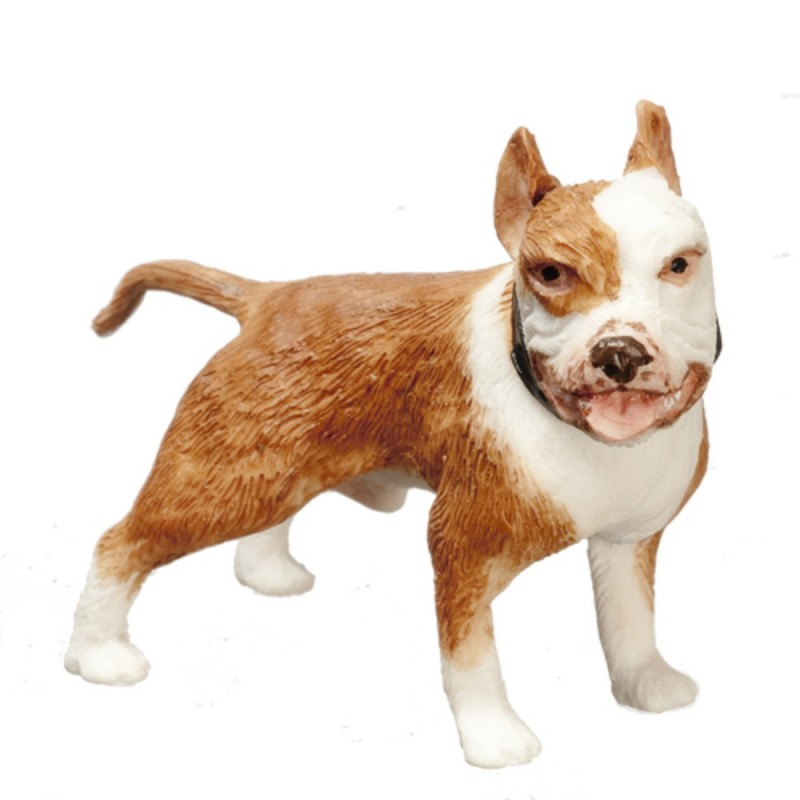 Dolls House Russet Brown Boxer Standing Miniature Pet Dog 1:12 Scale