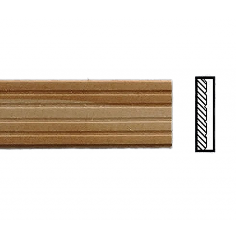 """Dolls House Decking Planks 17.1/2"""" x 9/16""""  Bare Wood  450mm x 15mm  Pack of 12"""