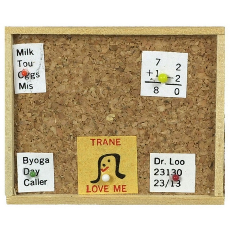 Dolls House Cork Memo Board Miniature Kitchen Study Office Accessory