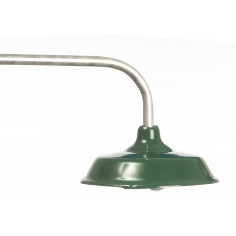 Dolls House Overhead Light with Green Shade Miniature 12V Electric Lighting