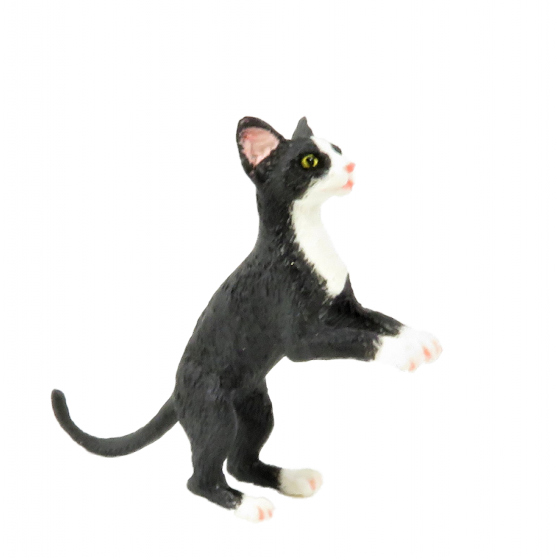 Dollhouse Miniature Pet Cat Animals 1:12 Scale Resin Ornament for Doll House