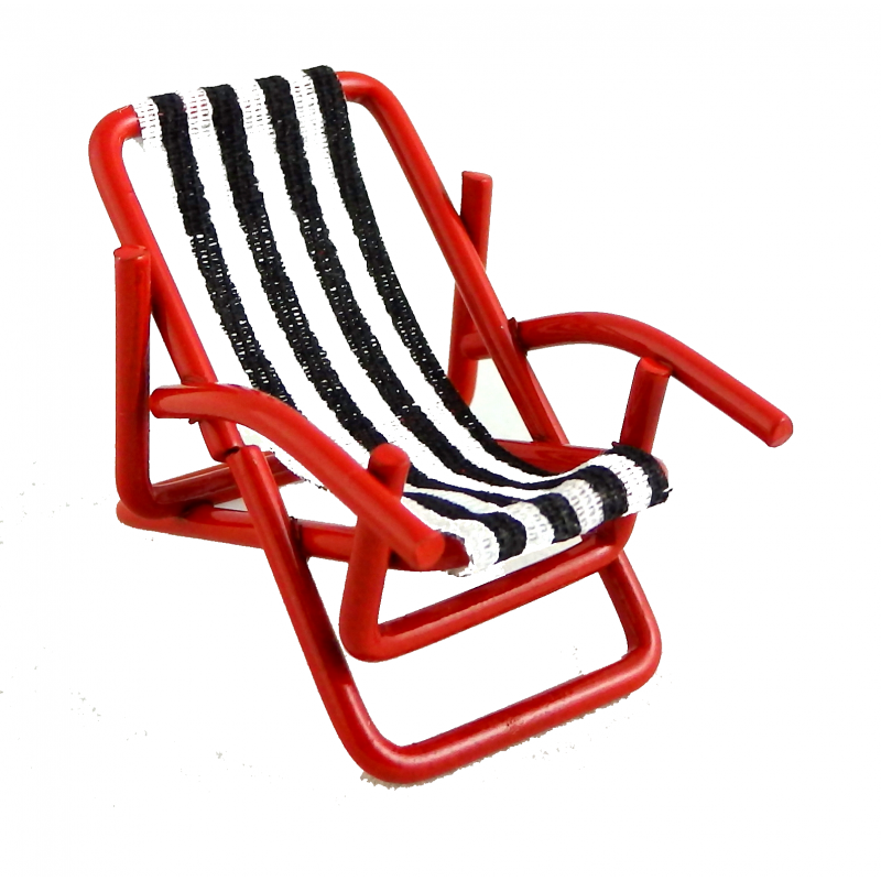 Dolls House Miniature 1:24 Scale Garden Furniture Deck Chair