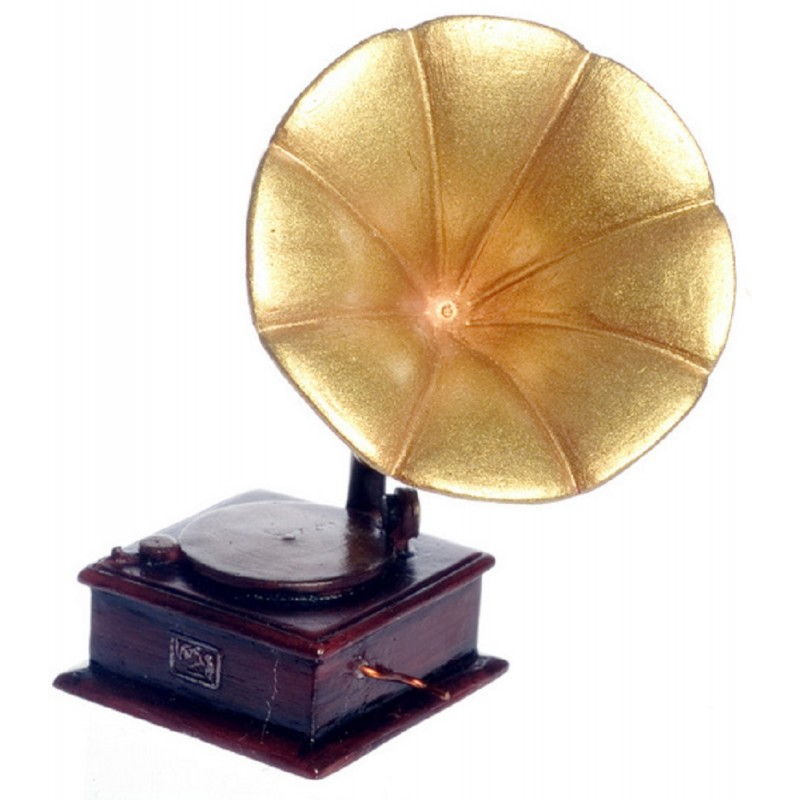Dolls House Gramaphone Player Miniature Old Fashioned Music Room Accessory