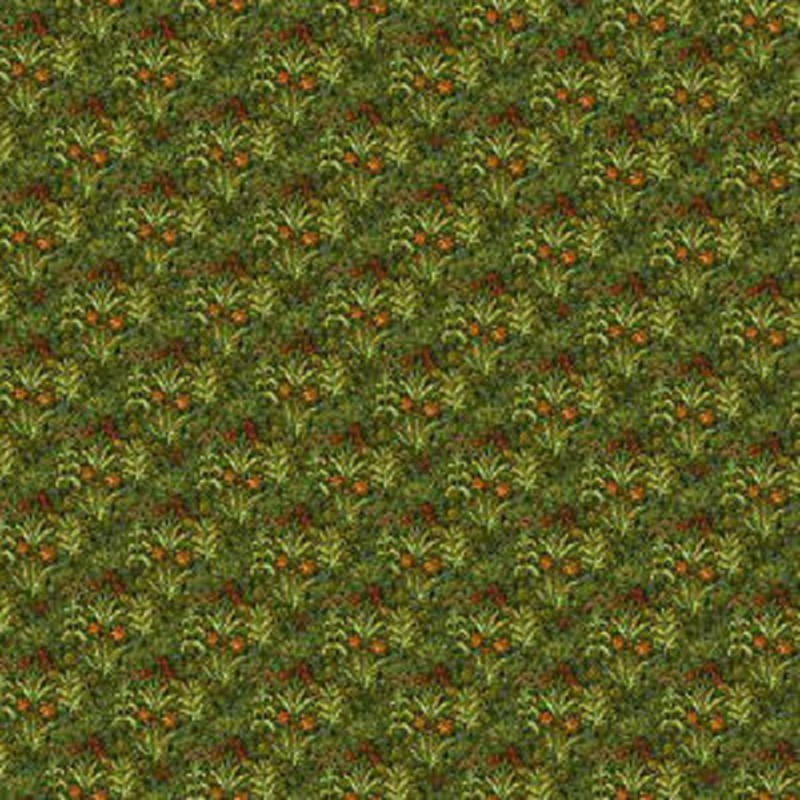 Dolls House Tudor Wallpaper Field of Flowers Miniature Print 1:12 Scale