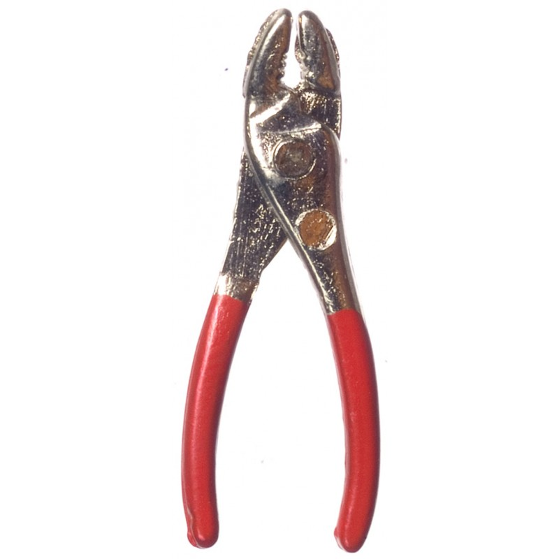 Dolls House Pliers Red Miniature 1:12 Garden Work Shed Tool Box Accessory