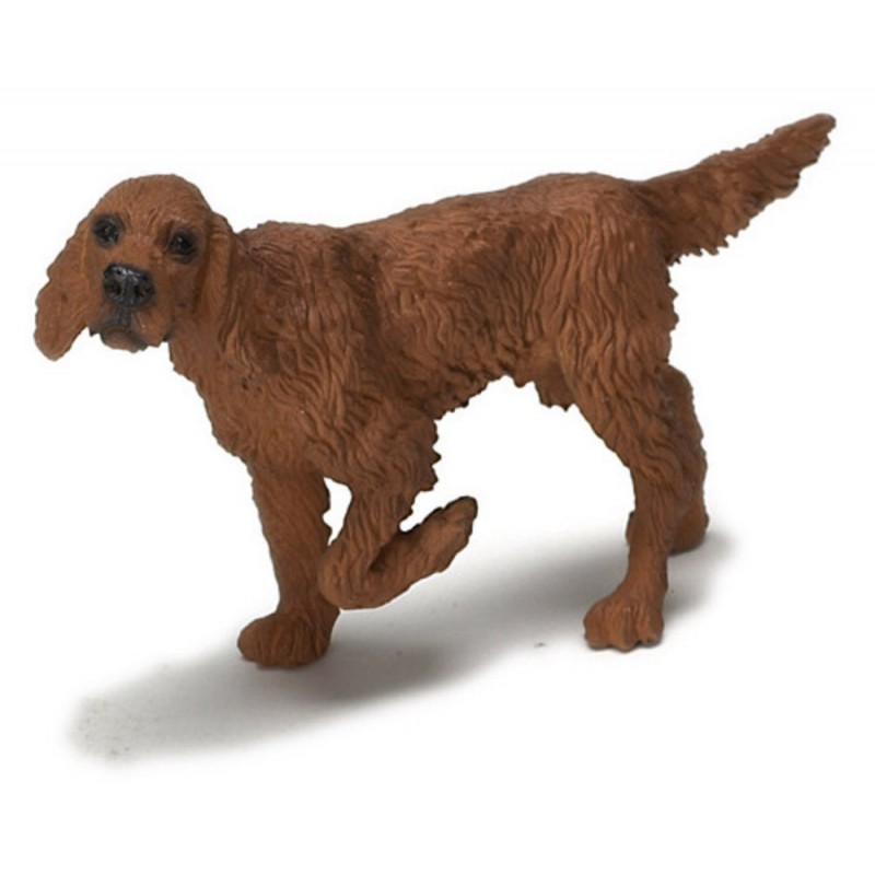 Dolls House Irish Setter Standing Leg Up Miniature Pet Dog 1:12 Scale