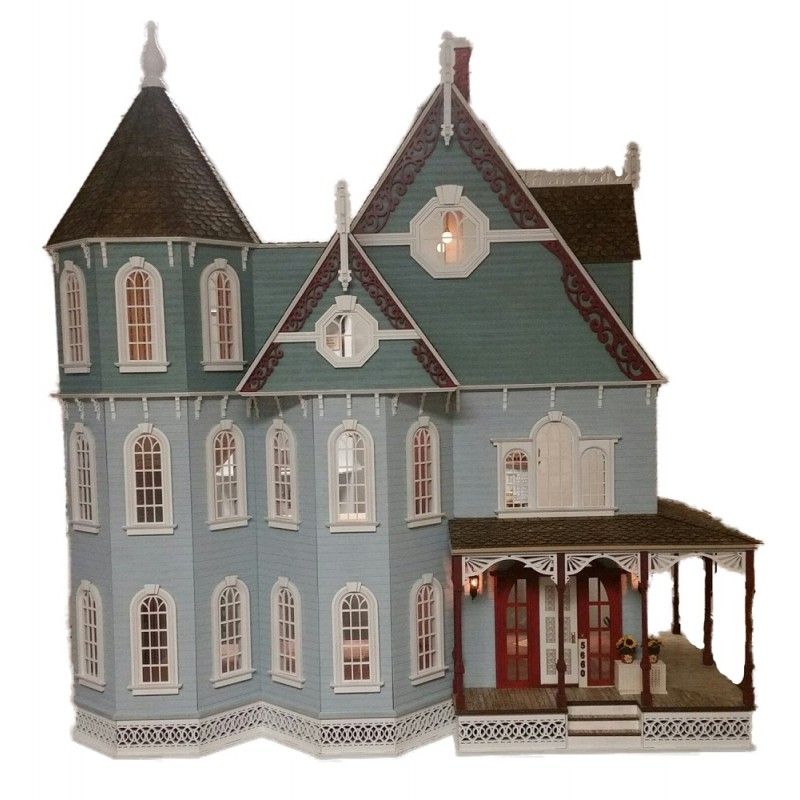 Dolls House New Leon Gothic Victorian Mansion 1:12 Laser Cut Wooden Flat Pack Kit