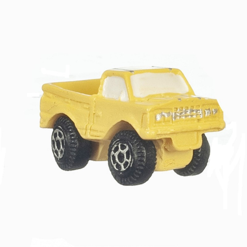 Dolls House Yellow Pick Up Truck Modern Toy Store Shop Nursery Accessory