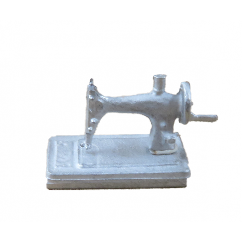 Dolls House Hand Sewing Machine 1:24 Scale Half Inch Metal Accessory