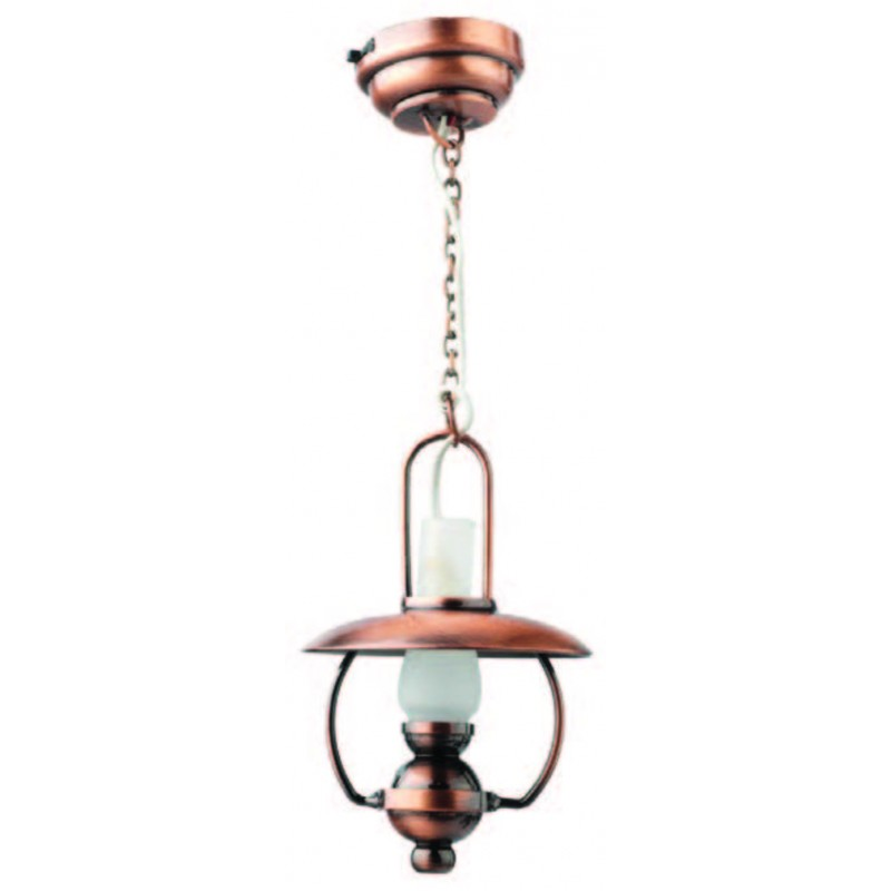 Dolls House Hanging Copper Mammoth Oil Light Claire LED Battery Ceiling Lighting