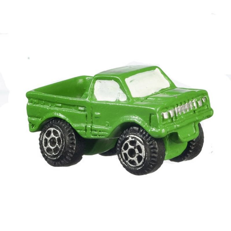 Dolls House Green Pick Up Truck Modern Toy Store Shop Nursery Accessory