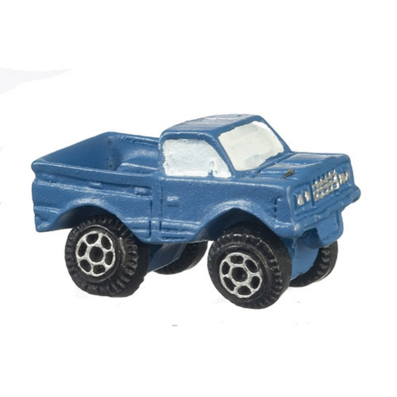 Dolls House Blue Pick Up Truck Modern Toy Store Shop Nursery Accessory