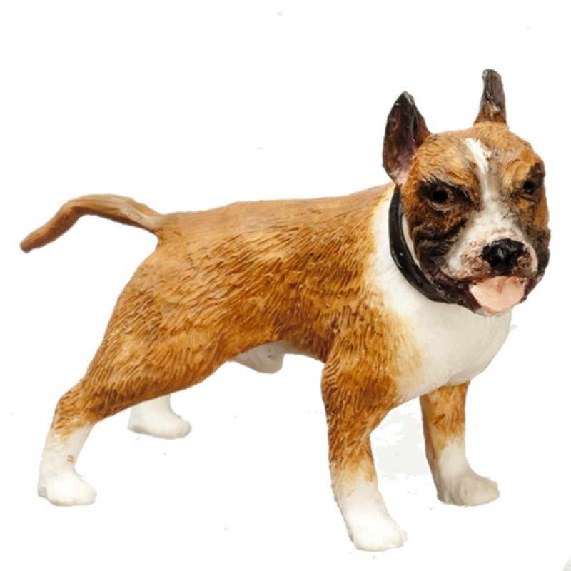 Dolls House Brown Boxer Standing Miniature Pet Dog 1:12 Scale