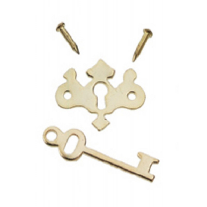 Dolls House Chipendale Key Plates Keys & Nails Miniature 1:12 Pack of 6