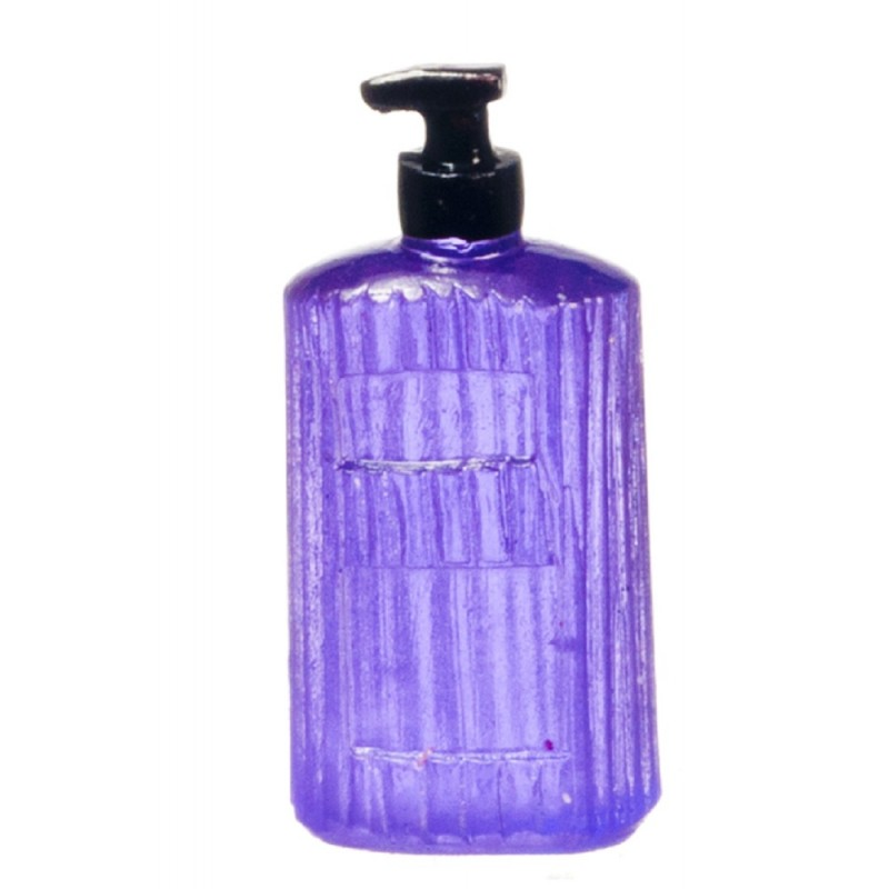 Dolls House Purple Hand Wash Modern Soap Dispenser 1:12 Bathroom Accessory