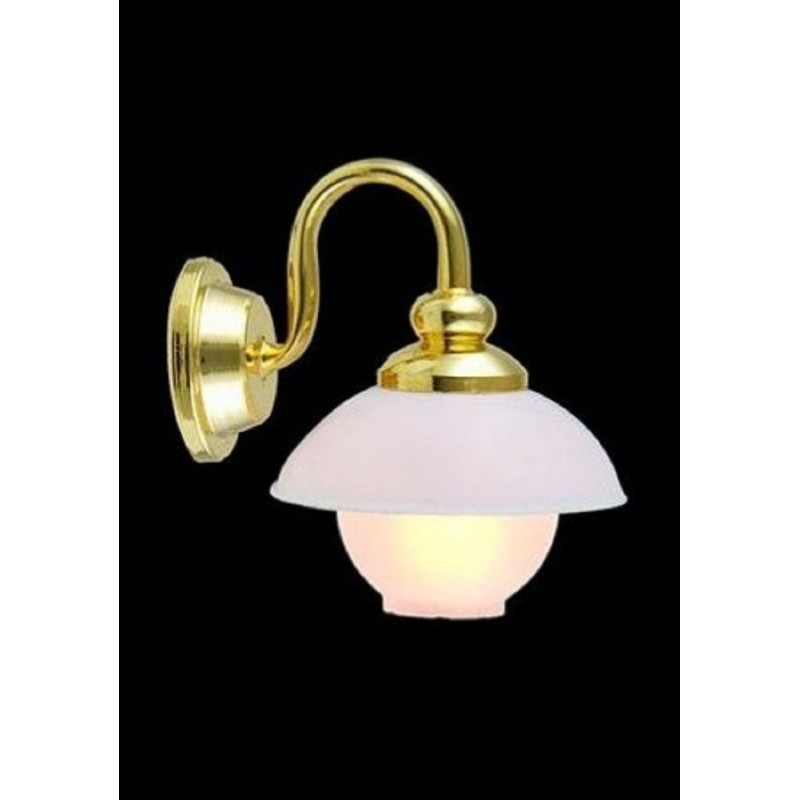 Dolls House Globe with Shade Wall Light 12V Sconce Electric Lighting