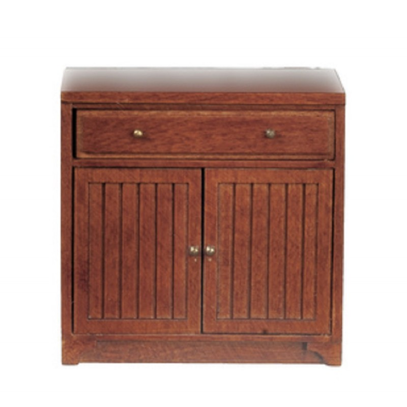 Dolls House Walnut Base Unit Bottom Cabinet JBM Miniature Kitchen Furniture