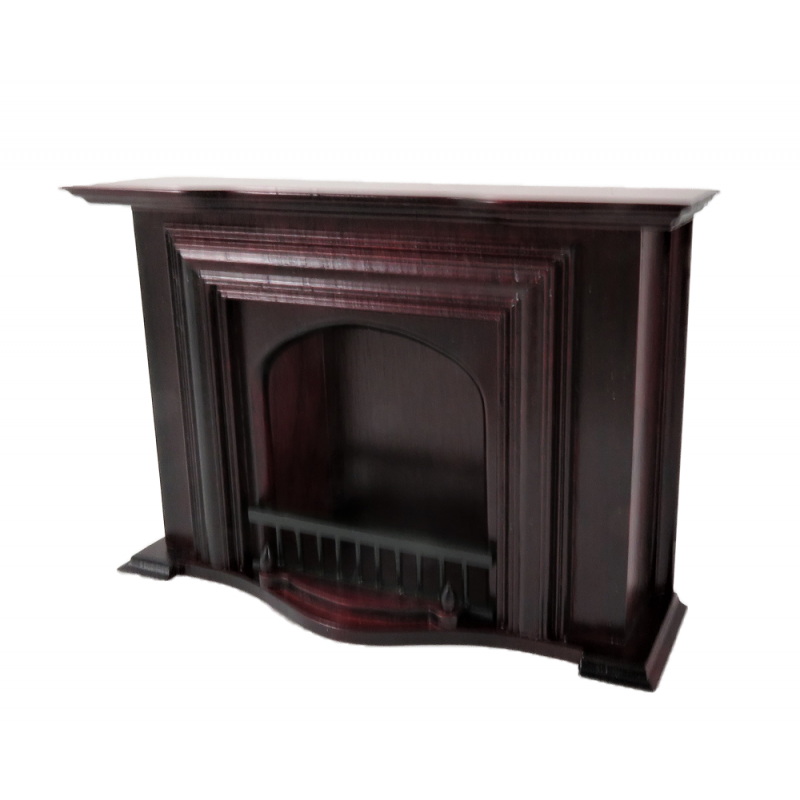 Dolls House Mahogany Georgian Fireplace Miniature 1:12 Living Room Furniture