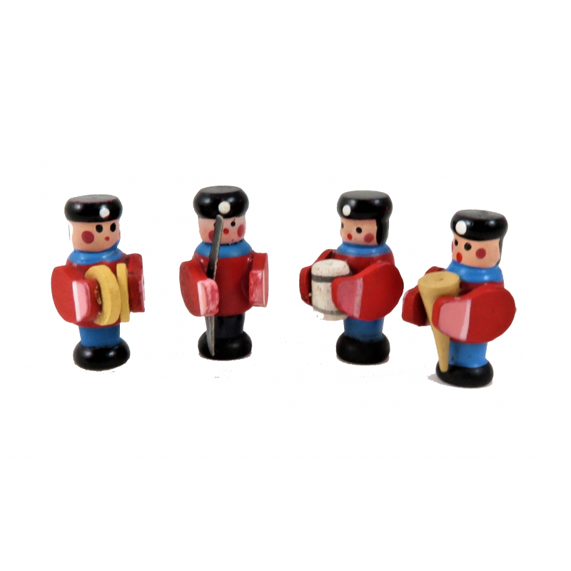 Dolls House Soldier Band Set 4 Traditional Boys Toy 1:12 Shop Nursery Accessory