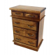 Dolls House Walnut Wood Chest of Drawers Miniature 1:12 Scale Bedroom Furniture