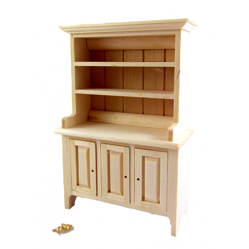 Dolls House Bare Wood Dresser Miniature Unfinished Kitchen Dining Room Furniture