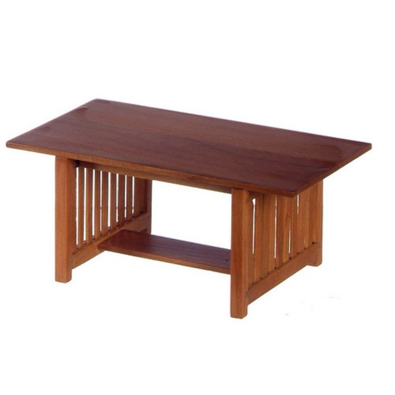 Dolls House Miniature Dining Room Furniture  Walnut Refectory Table