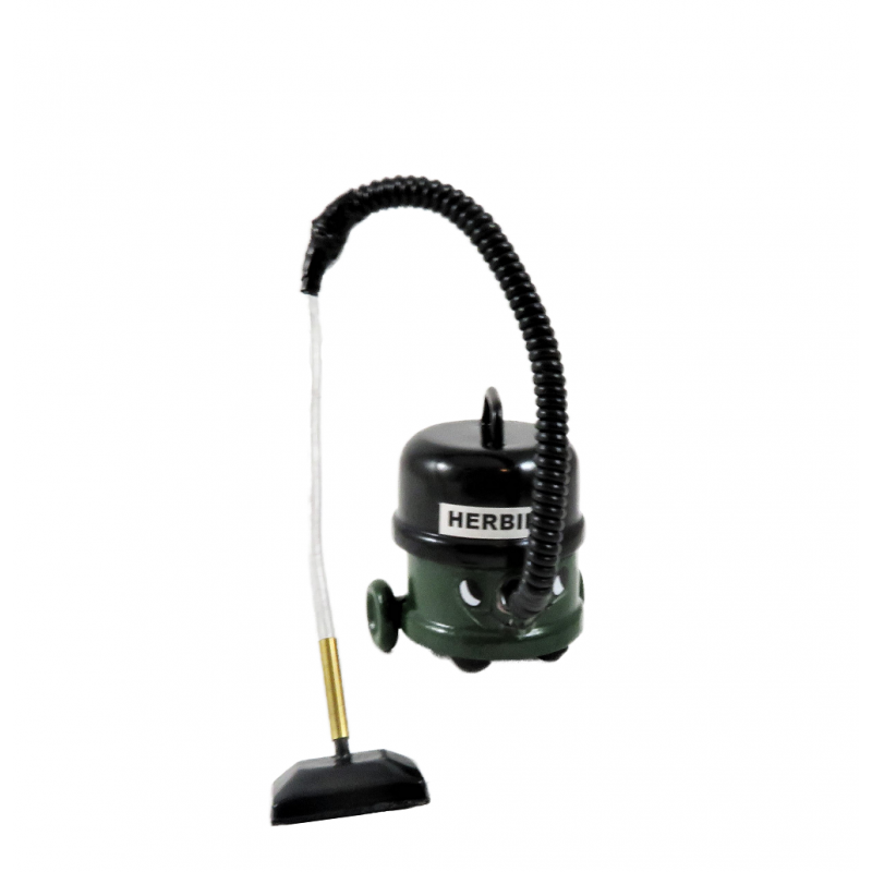 Dolls House Herbie Vacuum Cleaner Hoover Green Modern Cleaning Accessory
