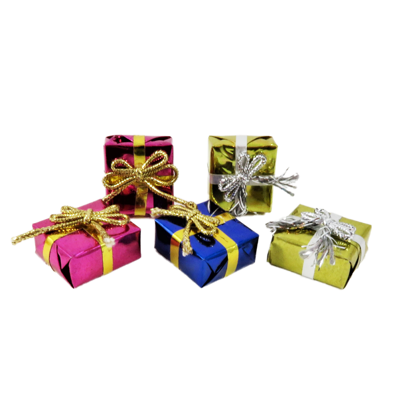 Dolls House Gift Wrapped Christmas Birthday Present Boxes Miniature Accessory