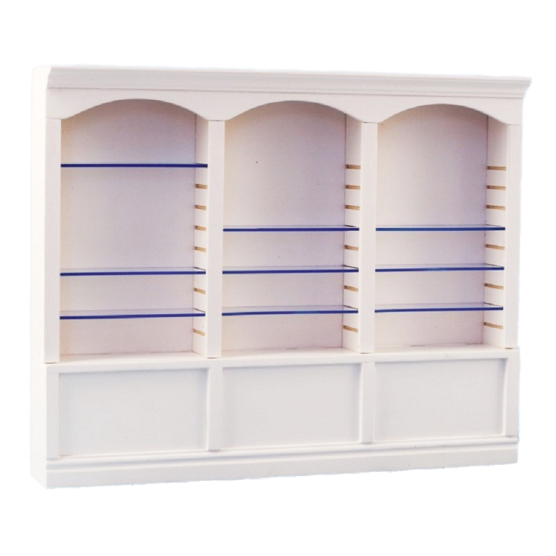 Dolls House 3 Bay Shop Fitting Triple Store Shelf Unit White MINIATURE 1:12