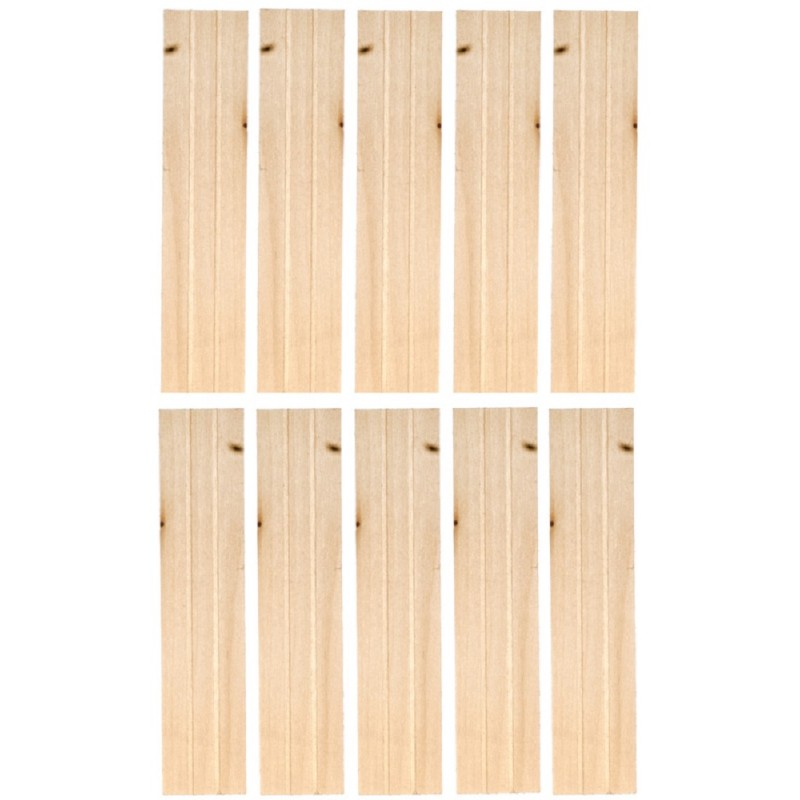 Dolls House Economy Grooved Shutters 1:12  Laser Cut Window Accessory 5 Pairs