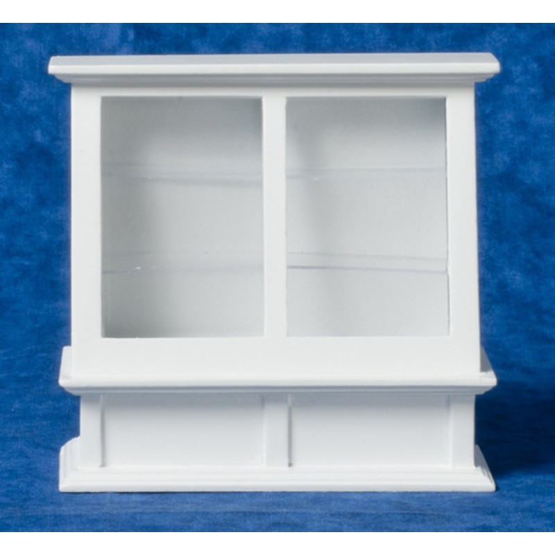 Dolls House White Display Cabinet Case Miniature Shop Fitting Store Furniture
