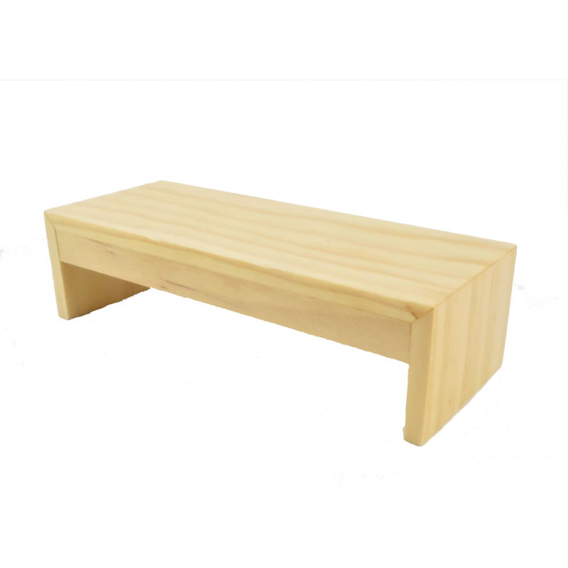 Dolls House Modern Light Oak Coffee Table Contemporary Living Room Furniture