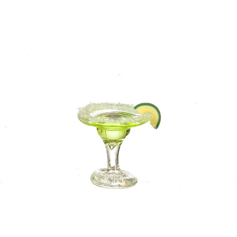 Dolls House Margarita Cocktail with Slice of Lime Miniature Drink Bar Accessory