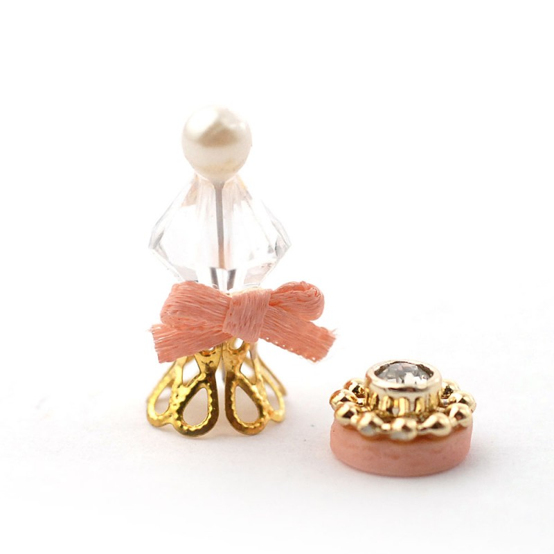 Dolls House Perfume Bottle & Compact Bathroom Bedroom Dressing Table Accessory