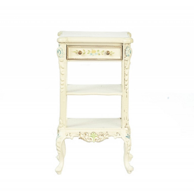 Dolls House Hand Painted White Side End Table JBM Miniature Furniture