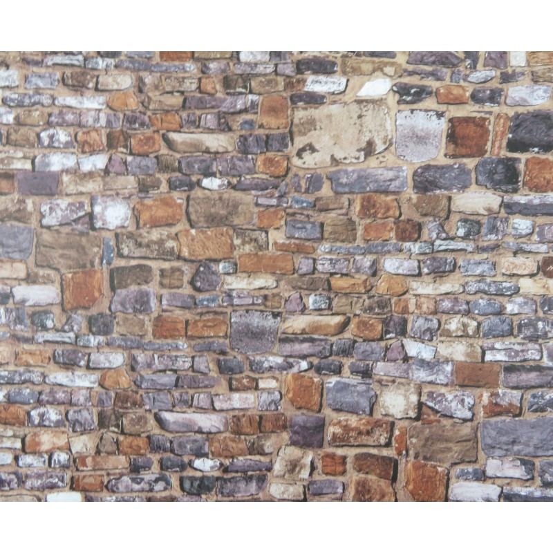 Dolls House Old Stone Wall Exterior DIY Card Sheet 1:12 Scale