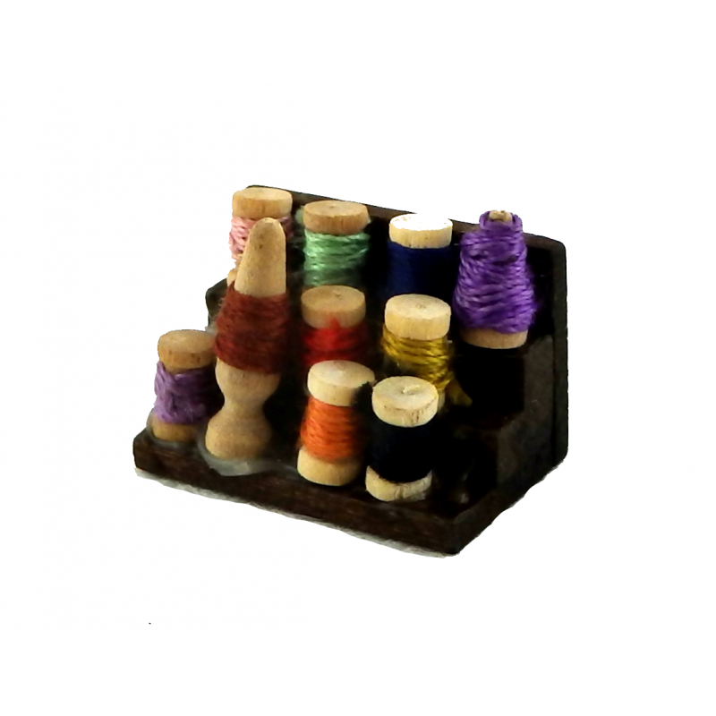 Dolls House Haberdashery Sewing Display of Cotton Reels Thread Shop Accessory